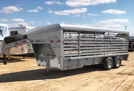 2020 Gray 20' Delco Livestock Trailer