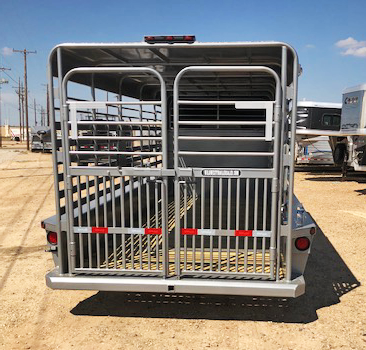 2020 Gray 24' Delco Livestock Trailer
