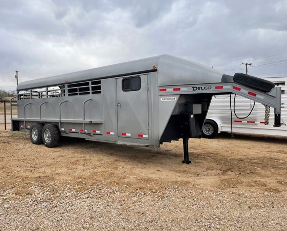 2019 Premium Grey Delco 24' Stock Trailer