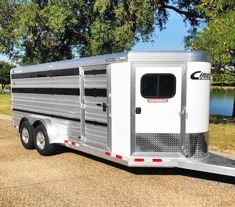 2020 White Cimarron 8 Pen Show Trailer