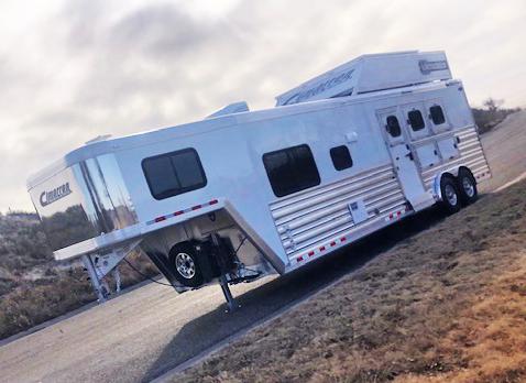 2020 Cimarron 3 Horse Living Quarters Trailers