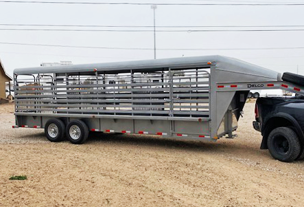 2021 Silver 24' Delco Stock Trailer