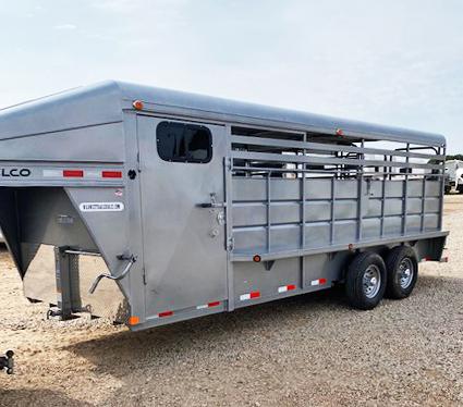 2020 Delco Trailers Stock Trailer Livestock Trailer