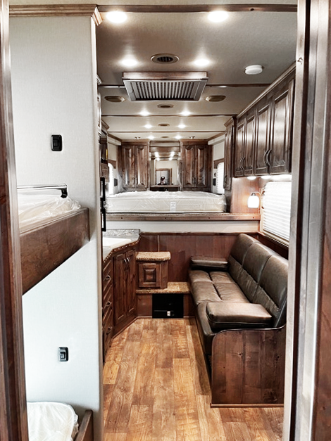 2021 4-Star 4 Horse Trail Boss Living Quarter Horse Trailer