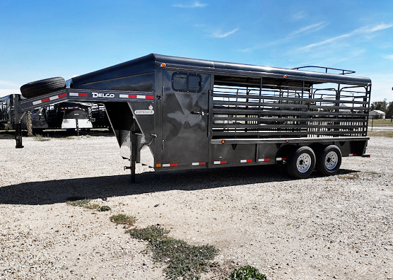 2021 Charcoal Low Side 20' Delco Stock Trailer