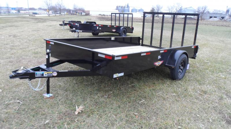 2021 H and H Trailer 82x12 Solid Side Utility Trailer  3K Idl