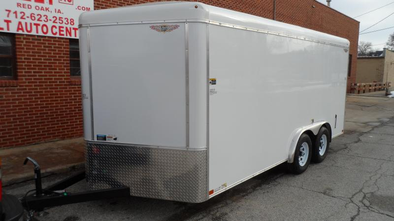 2021 H and H Trailer 8x16 HH Series Round Top V-Nose Enclosed w/cargo doors