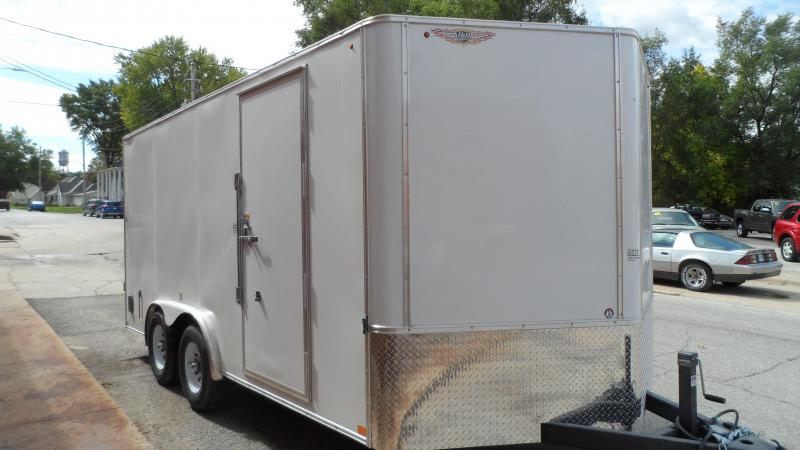 2021 H and H Trailer 8x16 HH Series Flat Top V-Nose Enclosed