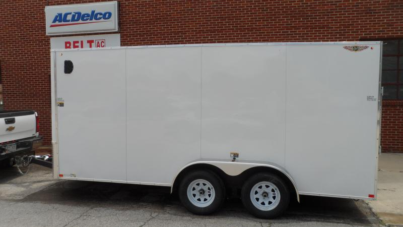 2020 H and H Trailer 7X16 TANDEM FLAT TOP HH VNOSE 7K CARGO