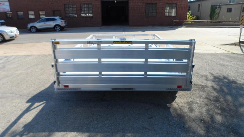 2022 H and H Trailer 82x12 Aluminum Rail Side Utility Trailer