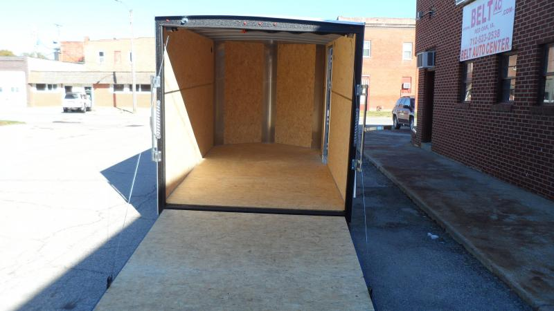 2021 H and H Trailer 7x12 HH Series Flat Top V-Nose Enclosed