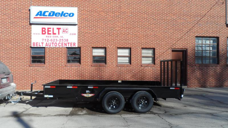 2021 H and H Trailer 82X14 STEEL SOLID SIDE TANDEM 7K
