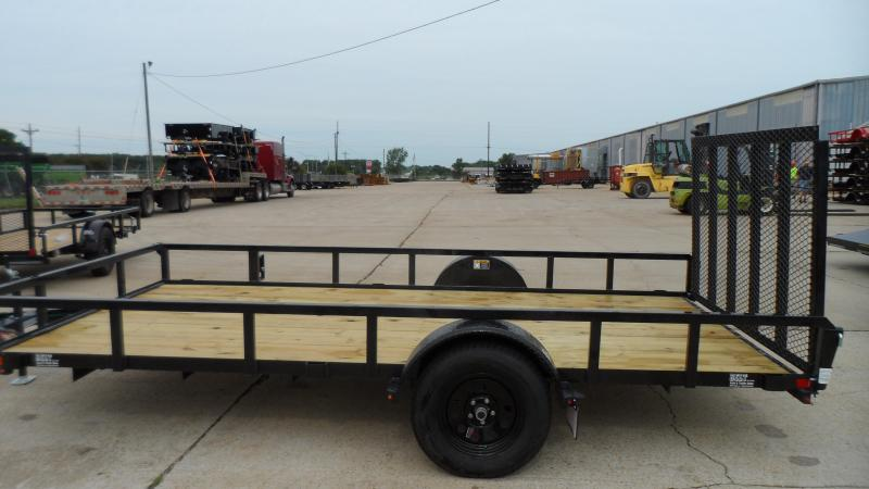 2020 H and H Trailer 82X14 STEEL RAIL SIDE 3.5K