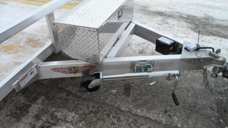 2021 H and H Trailer 82x16 Aluminum Rail Side Utility Trailer