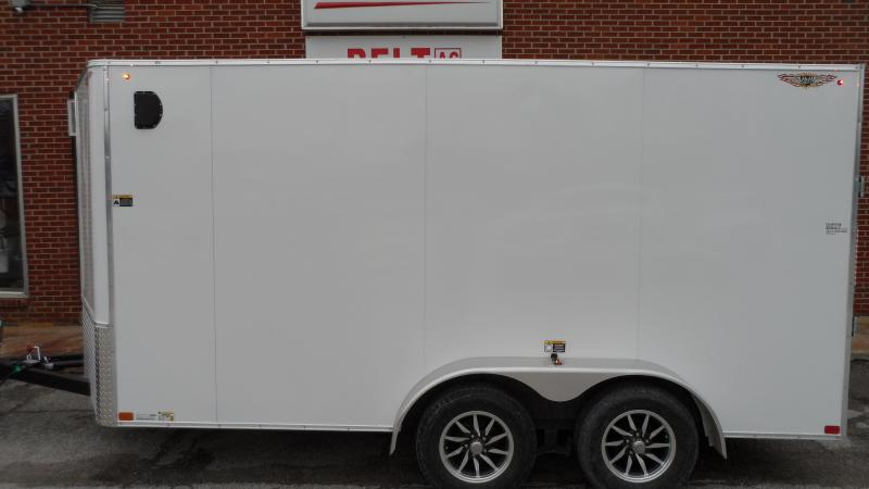 2021 H and H Trailer 7x14 HH Series Flat Top V-Nose Enclosed