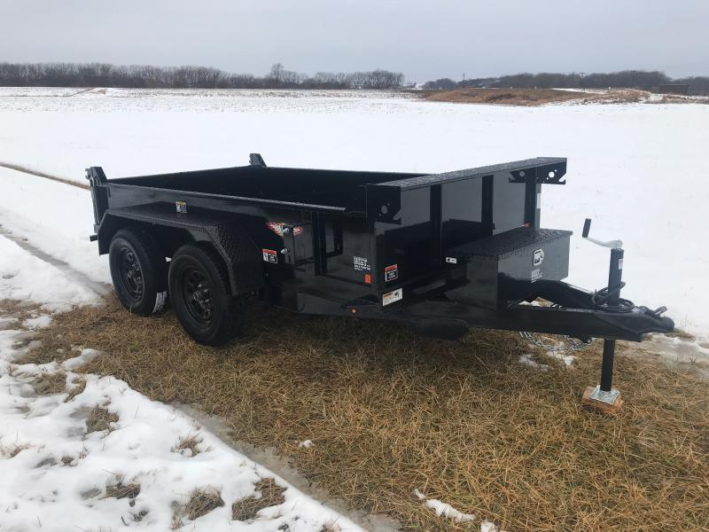 2021 H and H Trailer 62x10 Utility Dump Trailer  7K Single Ra