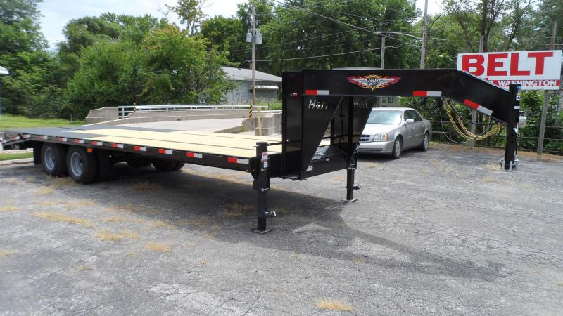 2021 H and H Trailer 20+5 19LB 20K GNLP DECKOVER SUPER DLX