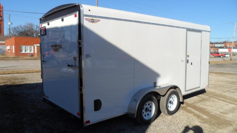 2021 H and H Trailer 7x16 HH Series Round Top V-Nose Enclosed