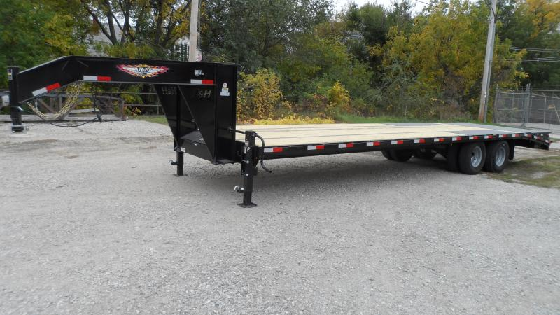 2022 H and H Trailer 102x25+5 HD Low Profile Dovetail Super D
