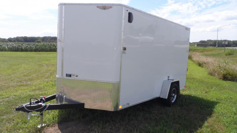 2021 H and H Trailer 7X12 SINGLE FLAT TOP HH VNOSE 5K CARGO
