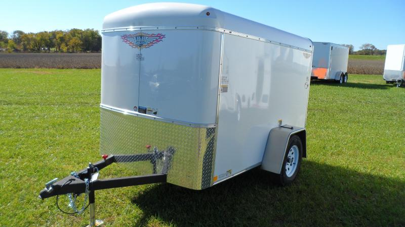 2019 H and H Trailer 5X8 SINGLE RND TOP HH RNDNOSE 3.5K CARGO (Hail damage call for pricing.)