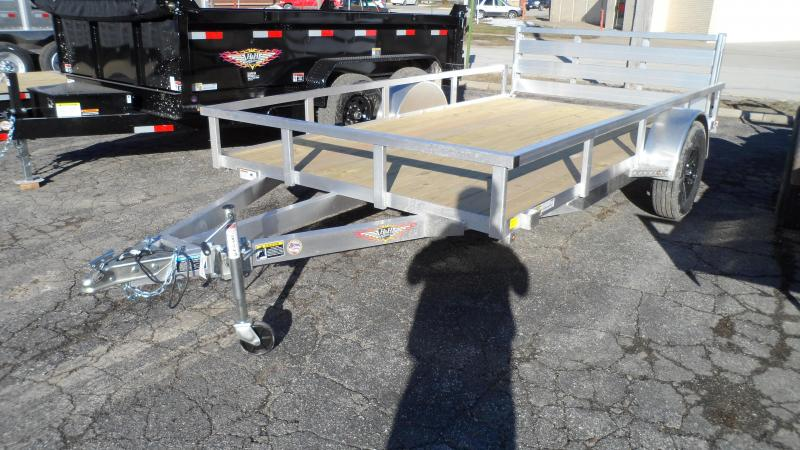 2021 H and H Trailer 82x12 Aluminum Rail Side Utility Trailer