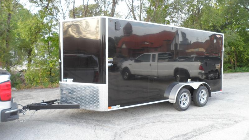 2022 H and H Trailer 7x16 HH Series Flat Top V-Nose Enclosed