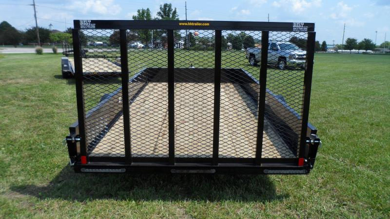 2021 H and H Trailer 82x14 Solid Side Utility Trailer  5K Bra