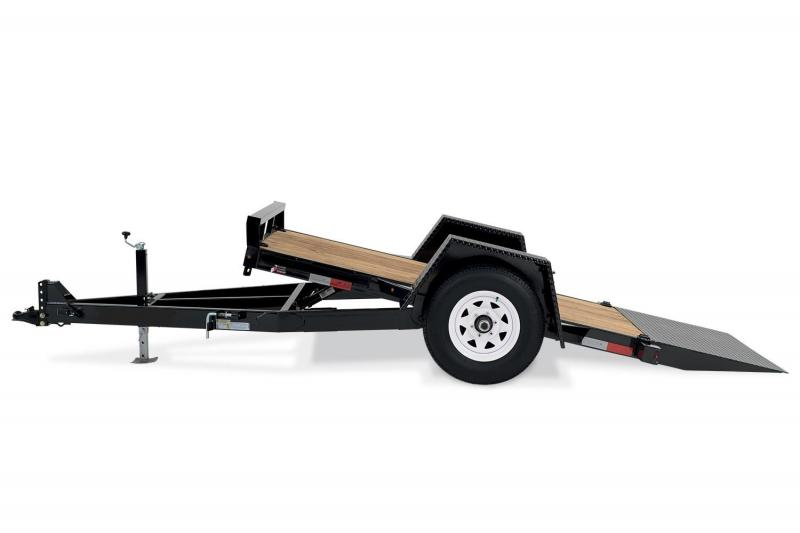 2021 H and H Scissor LIft (Gravity Tilt) Single Axle  Equipment Trailer