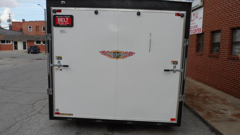 2022 H and H Trailer 8.5x16 HH Series Flat Top V-Nose Enclose