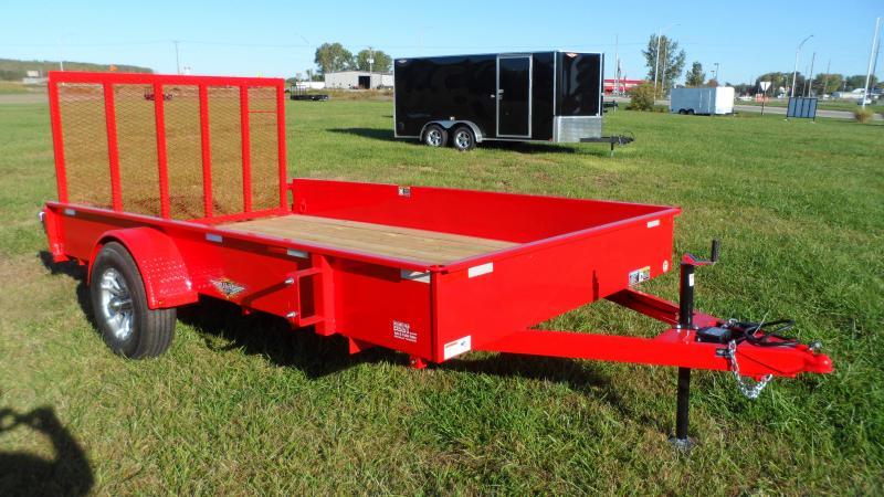2022 H and H Trailer 82x12 Solid Side Utility Trailer  5K Bra