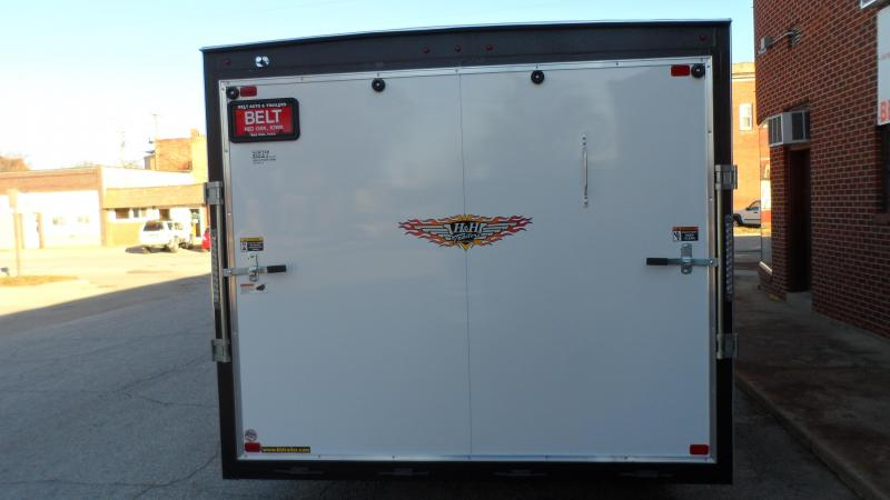 2021 H and H Trailer 8.5x20 HH Series Flat Top V-Nose Enclosed w/Fender door