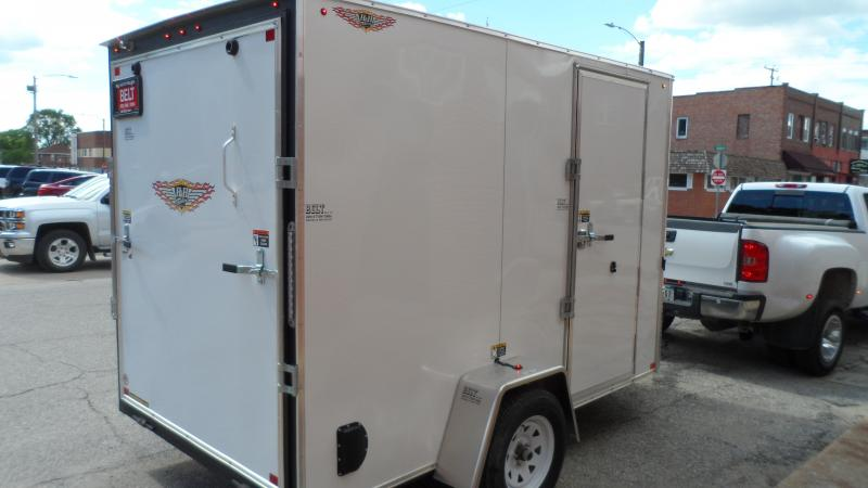 2020 H and H Trailer 6X10 SINGLE FLAT TOP HH VNOSE 3.5K CARGO