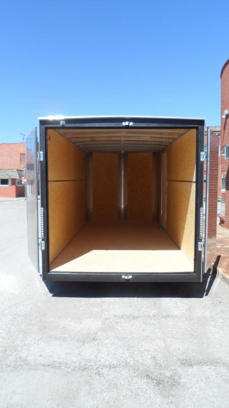 2021 H and H Trailer 7x16 HH Series Flat Top V-Nose Enclosed with Cargo Doors