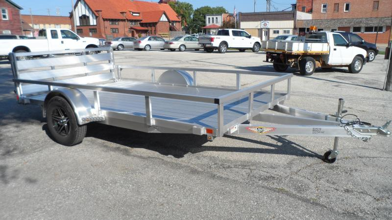 2022 H and H Trailer 76x12 Aluminum Rail Side Utility Trailer
