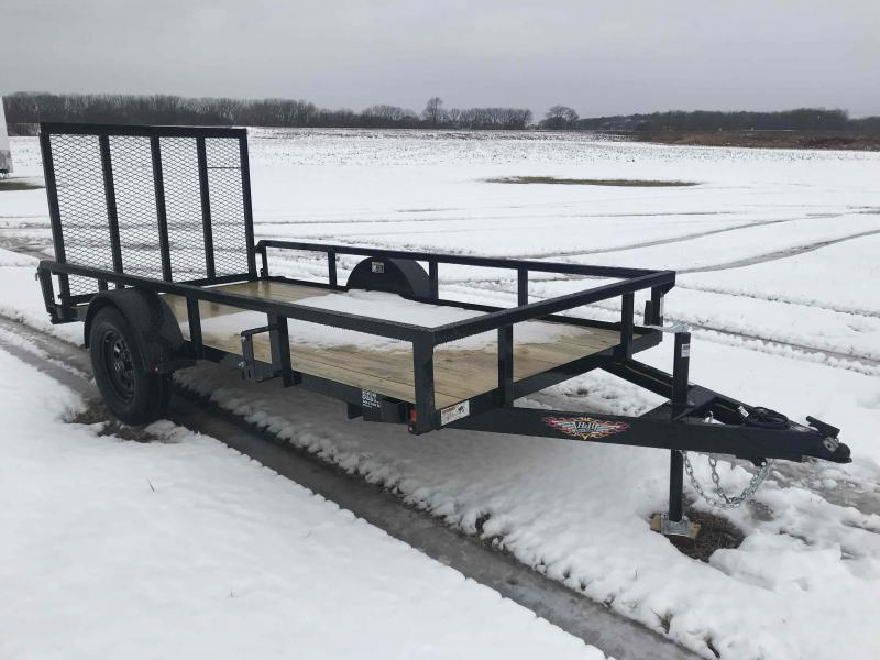 2021 H and H Trailer 66x12 Rail Side Utility Trailer  3K Idle