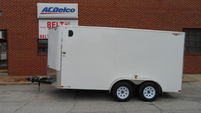 2022 H and H Trailer 7x14 HH Series Flat Top V-Nose Enclosed