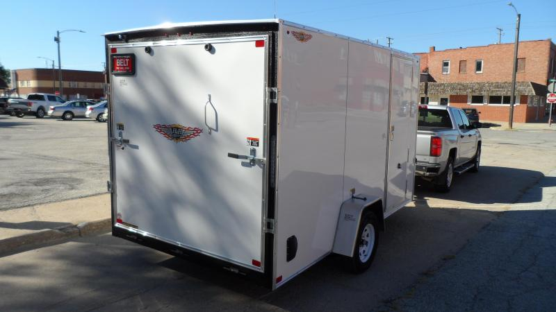 2022 H and H Trailer 7x12 HH Series Flat Top V-Nose Enclosed