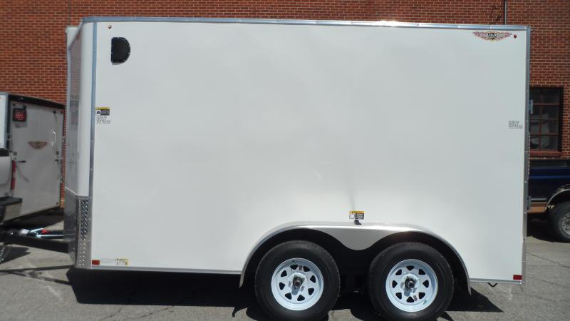 2020 H and H Trailer 7X12 TANDEM FLAT TOP HH VNOSE 7K CARGO