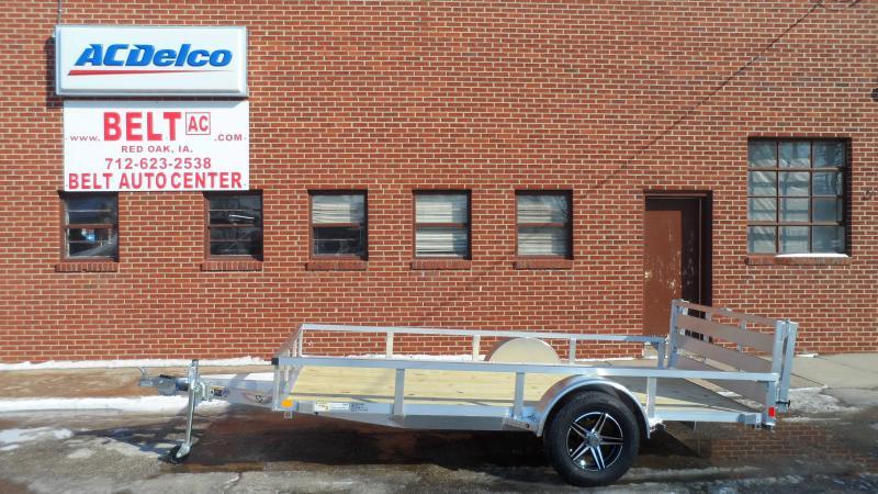 2021 H and H Trailer 76x12 Aluminum Rail Side Utility Trailer