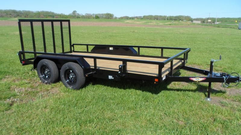 2021 H and H Trailer 82x14 Rail Side Utility Trailer  7K Tand