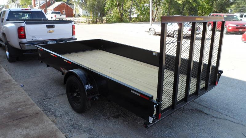 2021 H and H Trailer 82x12 Solid Side Utility Trailer  5K Bra