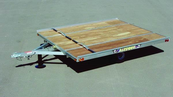 2021 Lund 8.5 X 10' TILT SLEDBED by LUND MANUFACTURING Snowmobile Trailer