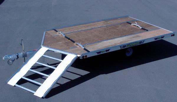 "2021 Lund 12' V- FRONT ""SLEDBED"" SNOWMOBILE TRAILER by LUND Snowmobile Trailer"