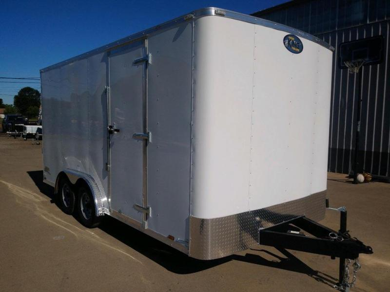 8x16 Enclosed Cargo Trailer  **  Rear Ramp Door  **  6'' of additional height  **