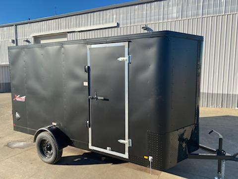 6 x 12 Enclosed Cargo Trailer **  Rear Ramp Door ** Camlock side Door **
