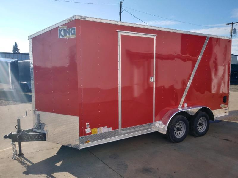 7 x 16 Enclosed Cargo Trailer   ** UTV Package **  Rear Ramp Door   **  Two Loading Lights  **