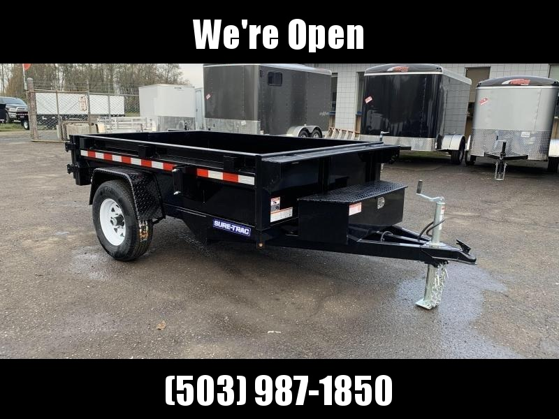 5x8 Dump Trailer Single Axle 5K Single Ram