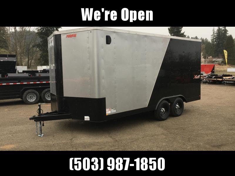 8.5x16 Tandem Axle Enclosed Trailer with ramp **Side X Side**