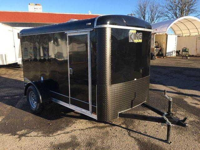 5x10 Enclosed Cargo Trailer With RV Door and Plus Height